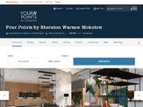 Four Points by Sheraton Warsaw Mokotow website screenshot