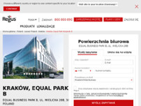 Regus - Krakow, Equal Park Building B website screenshot