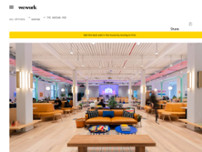 WeWork The Warsaw Hub website screenshot
