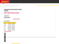 Advance Auto Parts website screenshot
