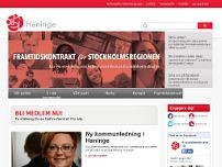 Socialdemokraterna i Haninge website screenshot