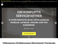 Din Servicepartner AB - Trailerservice website screenshot