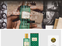 Gucci website screenshot