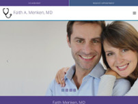 Faith Menken, MD website screenshot
