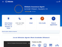 Avninder Dilawari: Allstate Insurance website screenshot