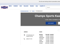 Champs Sports website screenshot