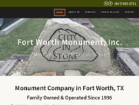 Fort Worth Monument, INC website screenshot