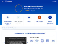 John Dermody: Allstate Insurance website screenshot