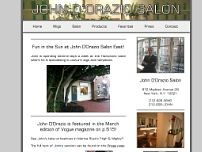 John D'Orazio Salon website screenshot