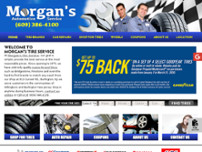 Morgans Tire Service Inc website screenshot