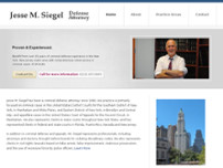 Jesse M. Siegel Attorney at Law website screenshot
