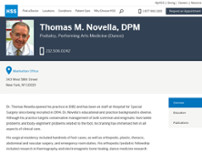 Thomas M. Novella website screenshot