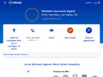 Brian Hambley: Allstate Insurance website screenshot