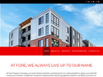 Fore Property Company website screenshot