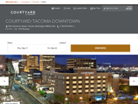 Courtyard by Marriott Tacoma Downtown website screenshot
