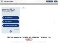 Liberty Tax Service website screenshot