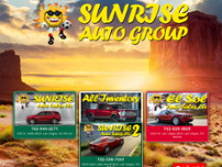 Sunrise Auto Sales website screenshot