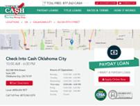 Check Into Cash In Oklahoma City 432 Sw 59th Street Cash Check