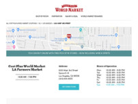 Cost Plus World Market website screenshot