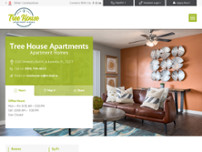 Tree House Apartments website screenshot