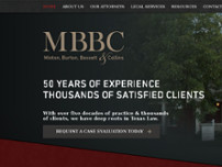 Minton, Burton, Bassett & Collins, P.C. website screenshot
