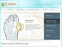 Belmont Anderson & Associates Podiatrist website screenshot