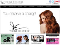 Visible Changes (inside The Shops at La Cantera) website screenshot