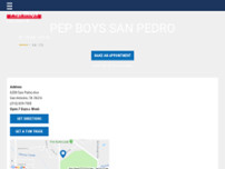 Pep Boys Auto Parts & Service website screenshot