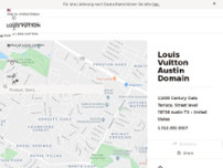 Louis Vuitton Austin Domain website screenshot