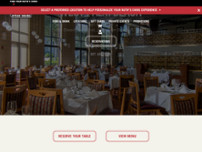 Ruth's Chris Steak House website screenshot