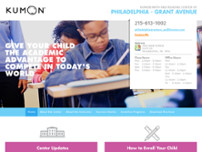 Kumon Math and Reading Center of Philadelphia - Grant Avenue website screenshot