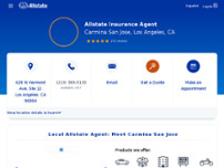Carmina San Jose: Allstate Insurance website screenshot