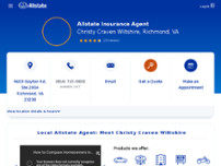 Christy Craven Wiltshire: Allstate Insurance website screenshot