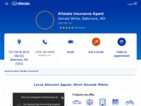 Donald White: Allstate Insurance website screenshot