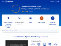 Donny Saunders: Allstate Insurance website screenshot