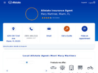 Mary Martinez: Allstate Insurance website screenshot