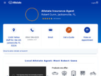 Robert Gunn: Allstate Insurance website screenshot