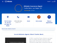 Yvette Beck: Allstate Insurance website screenshot