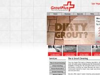 Grout Plus Tile and Grout Cleaning website screenshot