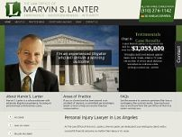 The Law Office of Marvin S. Lanter website screenshot