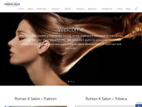 Roman K Salon website screenshot