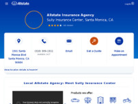 Sully Insurance Center: Allstate Insurance website screenshot