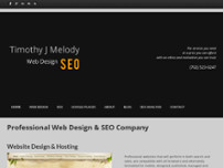 Timothy J Melody Web Design SEO website screenshot