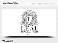 Leal Funeral Home website screenshot