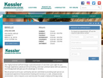 Kessler Rehabilitation Center website screenshot