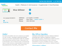 HealthMarkets Insurance - Ilisa Gillmer website screenshot