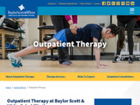 Baylor Scott & White Rehab website screenshot
