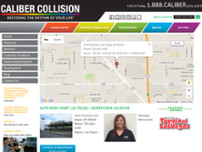 Caliber Collision website screenshot