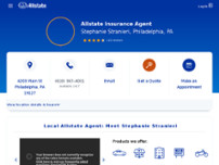 Stephanie Stranieri: Allstate Insurance website screenshot