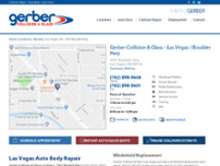 Gerber Collision & Glass website screenshot